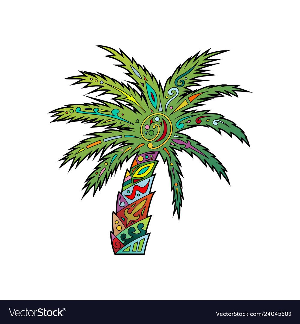 Palm tribal ornament logo