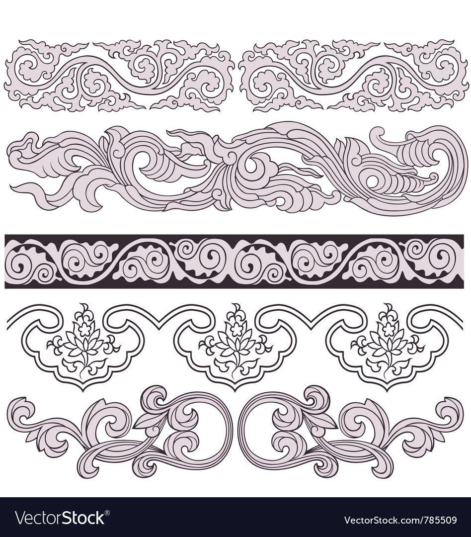 Scroll floral pattern