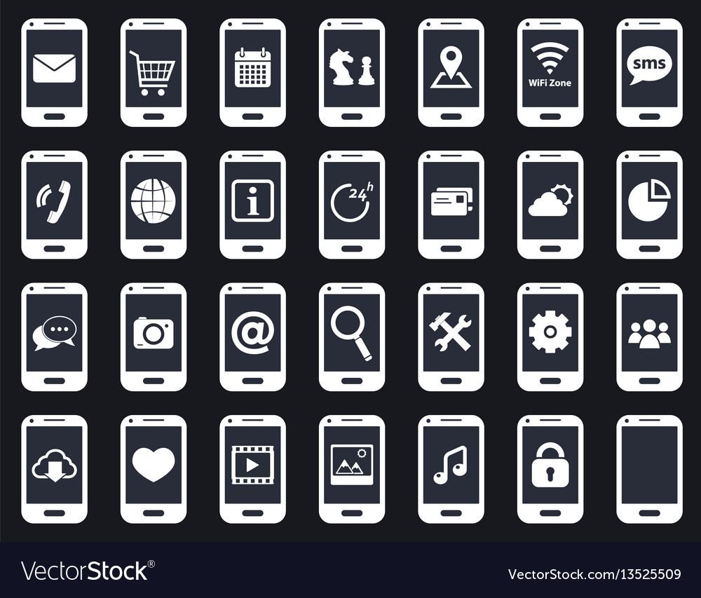 Smart phone icons