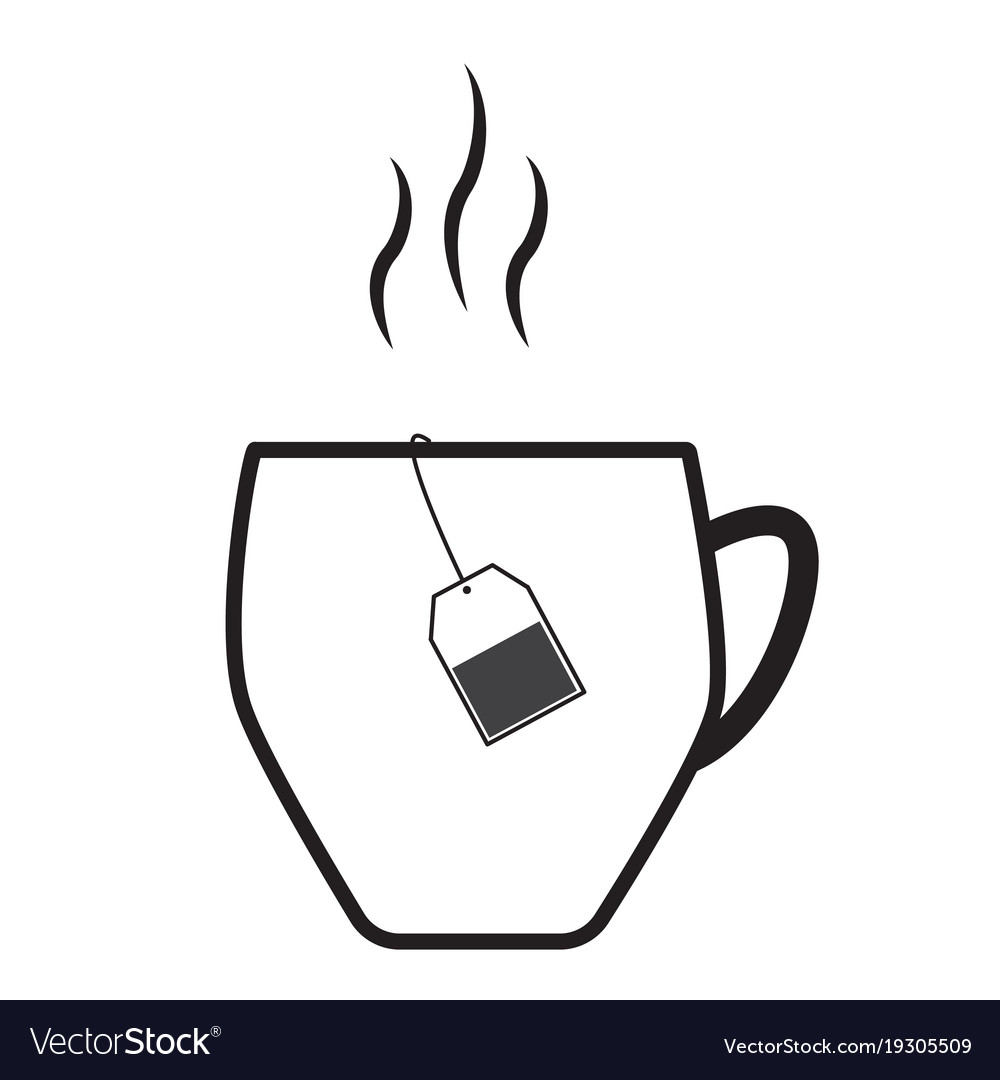 teacup icon on white background teacup symbol vector image vectorstock
