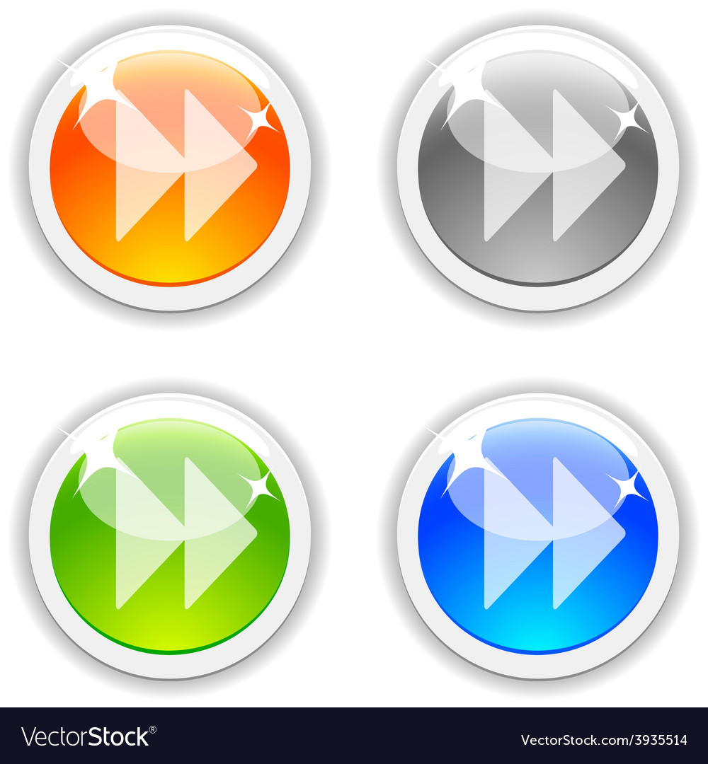 Forward buttons vector image