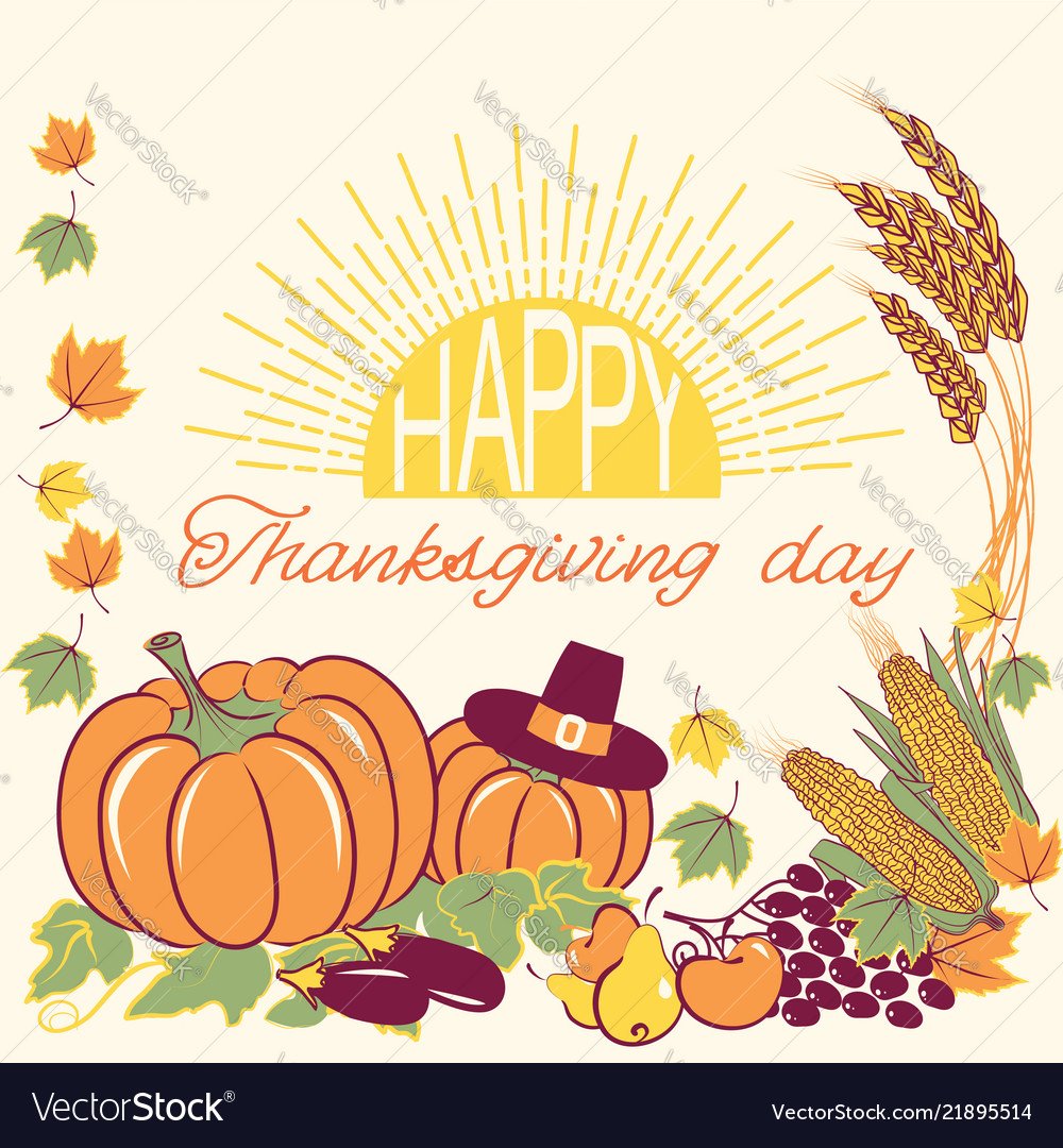 Happy thanksgiving background with seasonal