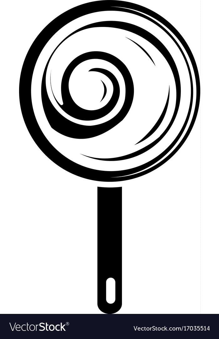 Lollipop icon simple black style vector image