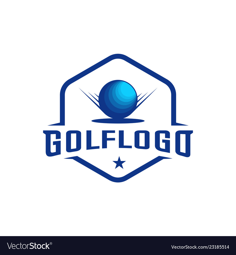 Modern Golf Badge Logo Golf Club Logo Design Vector Image