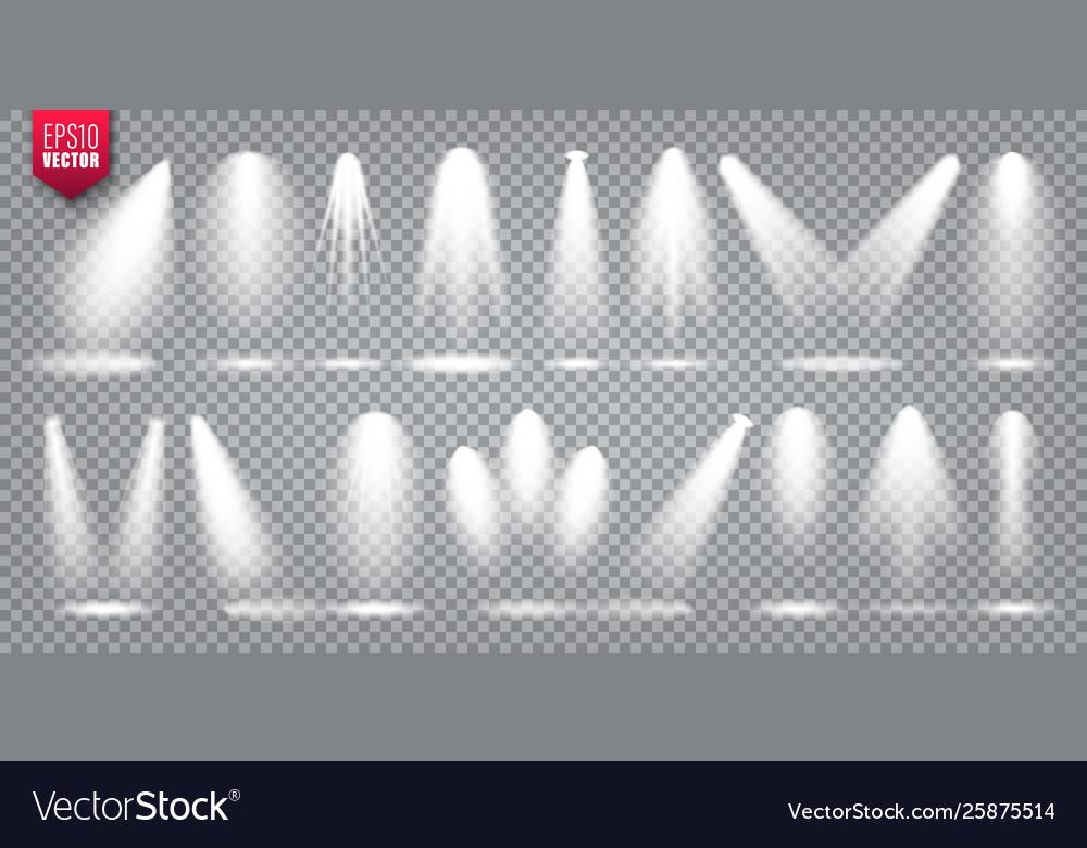 Spotlight set bright light beam