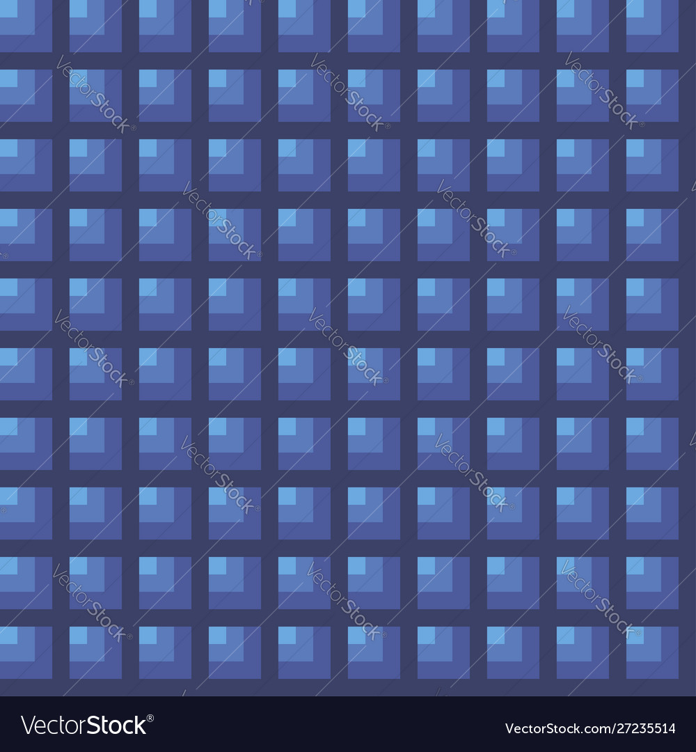 Squares floor art seamless pattern blue colors
