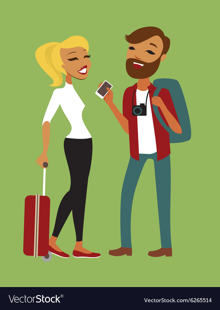 Young couple travelling