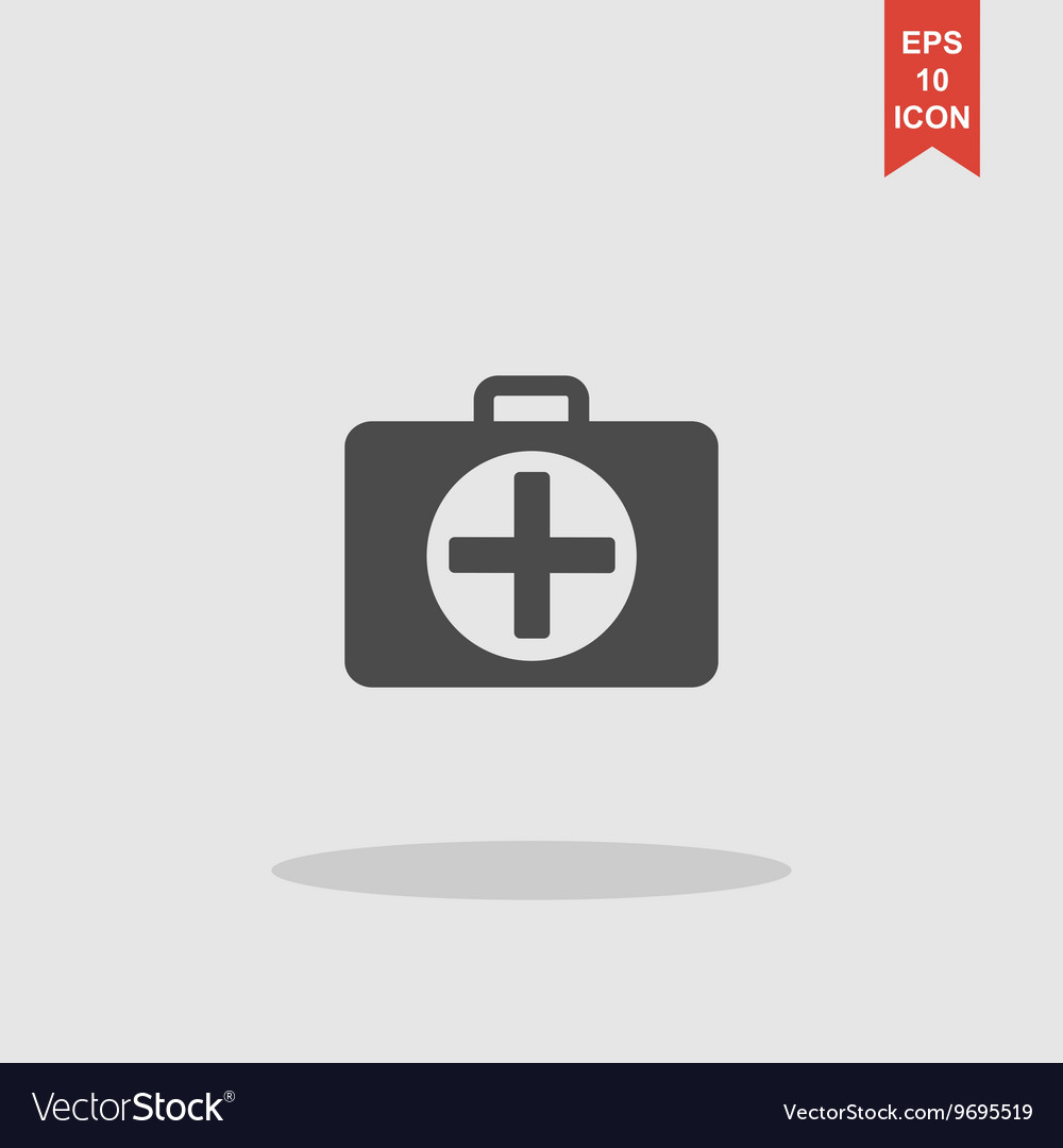 Ambulanse icon Flat design style