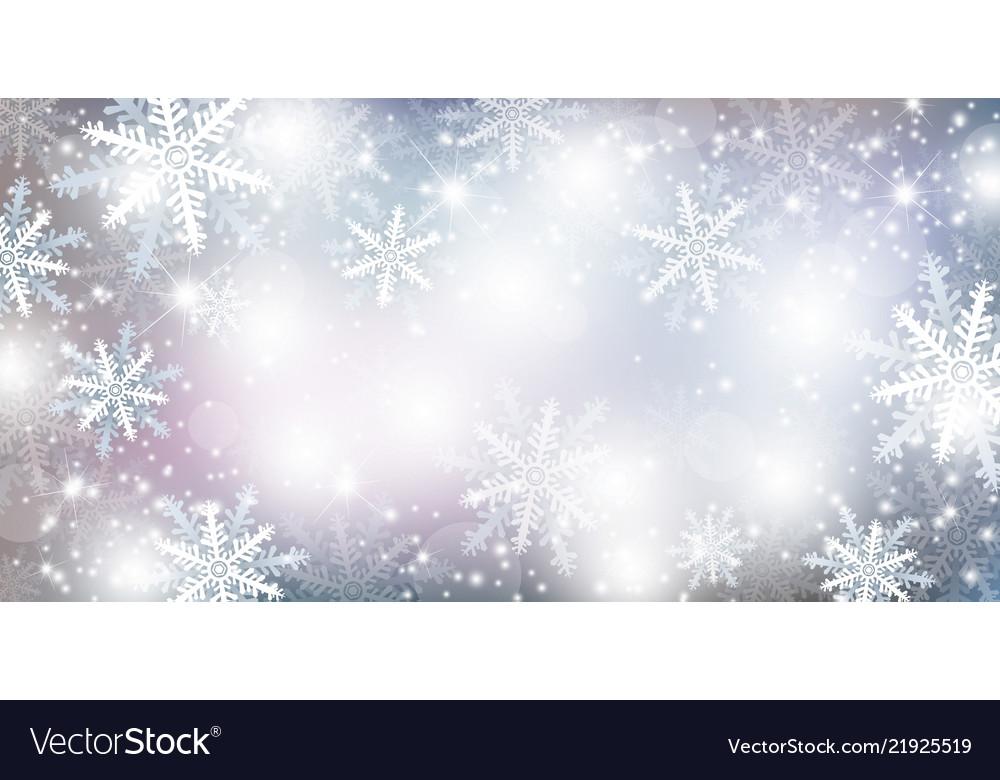 Christmas background design of falling snowflake