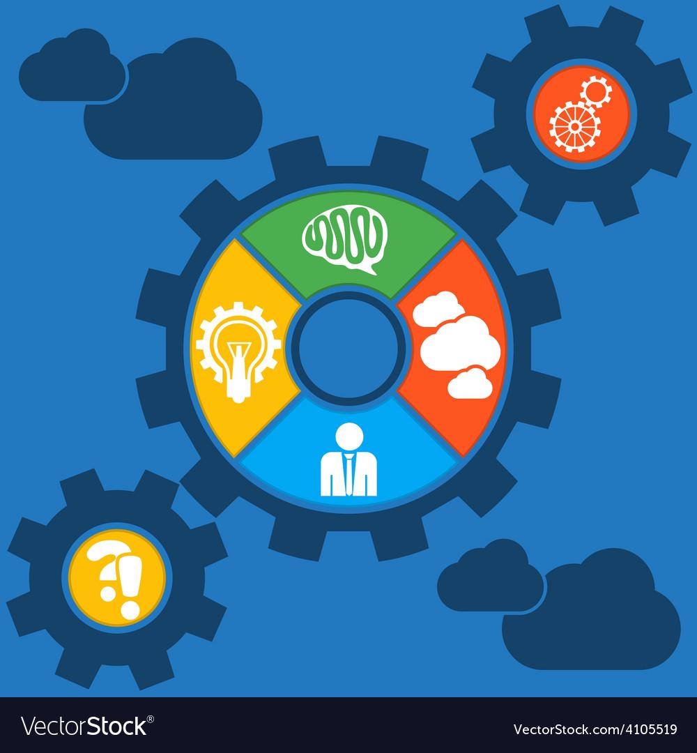 Cogwheel powering a big idea withgear system