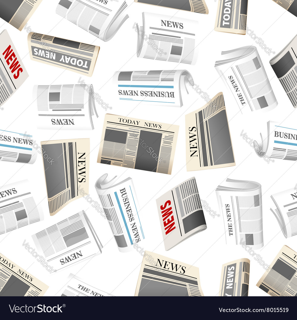 Daily newspapers seamless pattern background