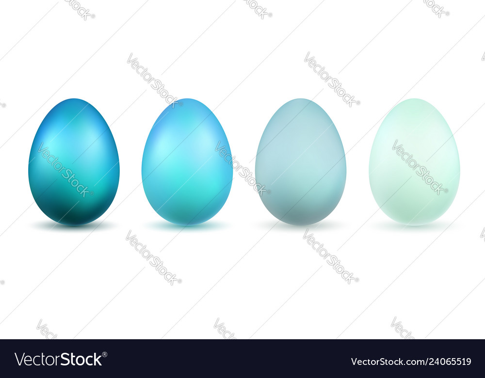 Easter egg 3d icons blue bright and pastel eggs