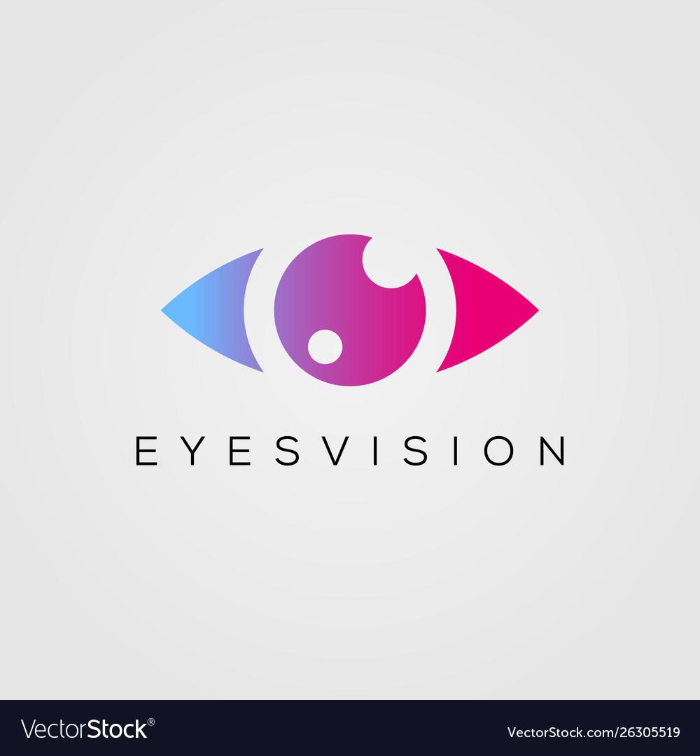 Eye logo design template beauty eyes vision icon