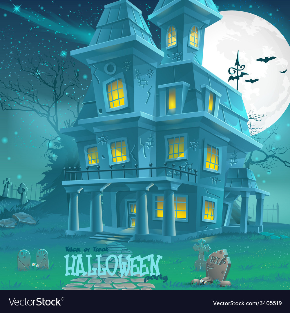 for halloween haunted house for a party vector image