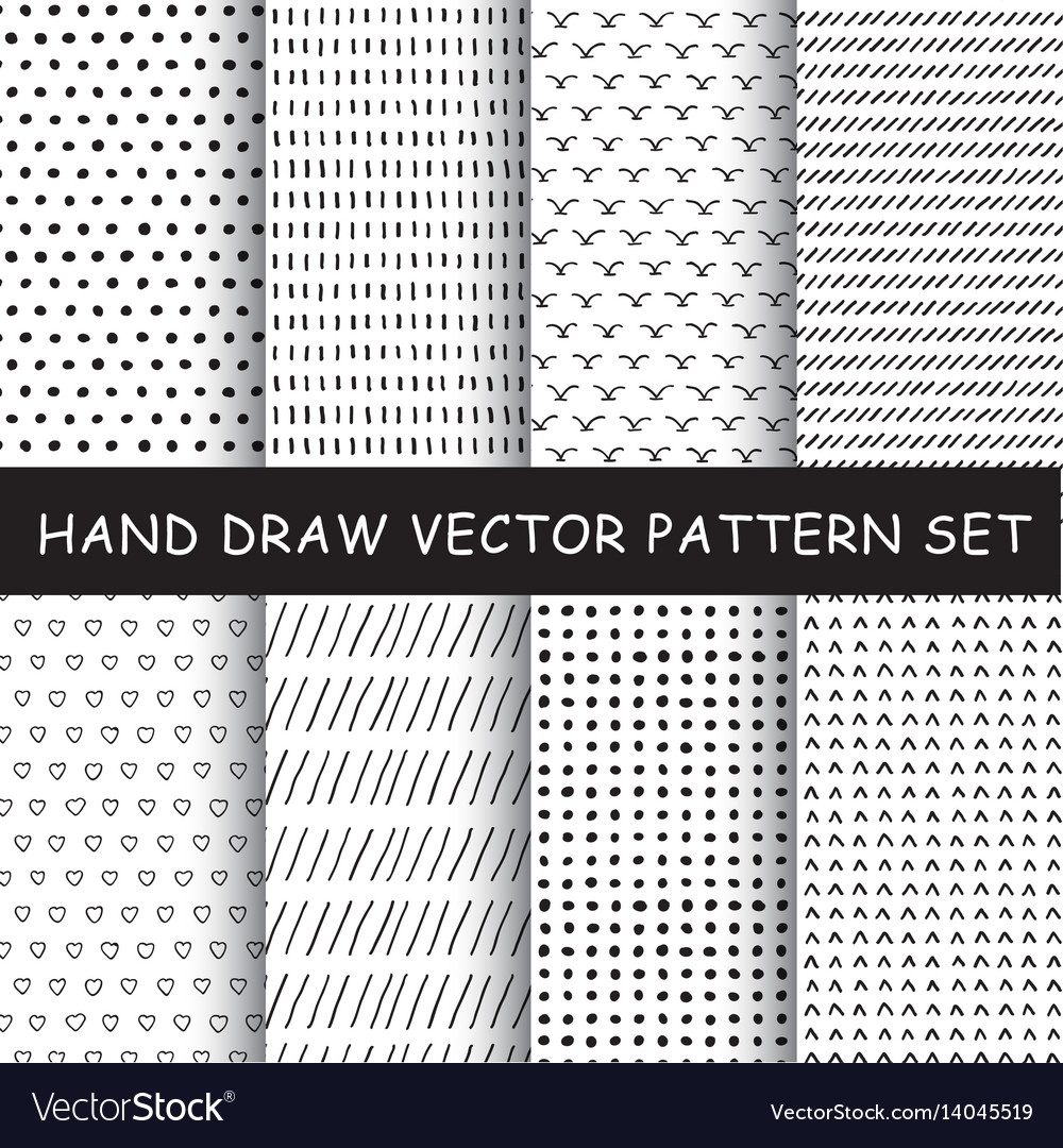 Hand drawing pattern set
