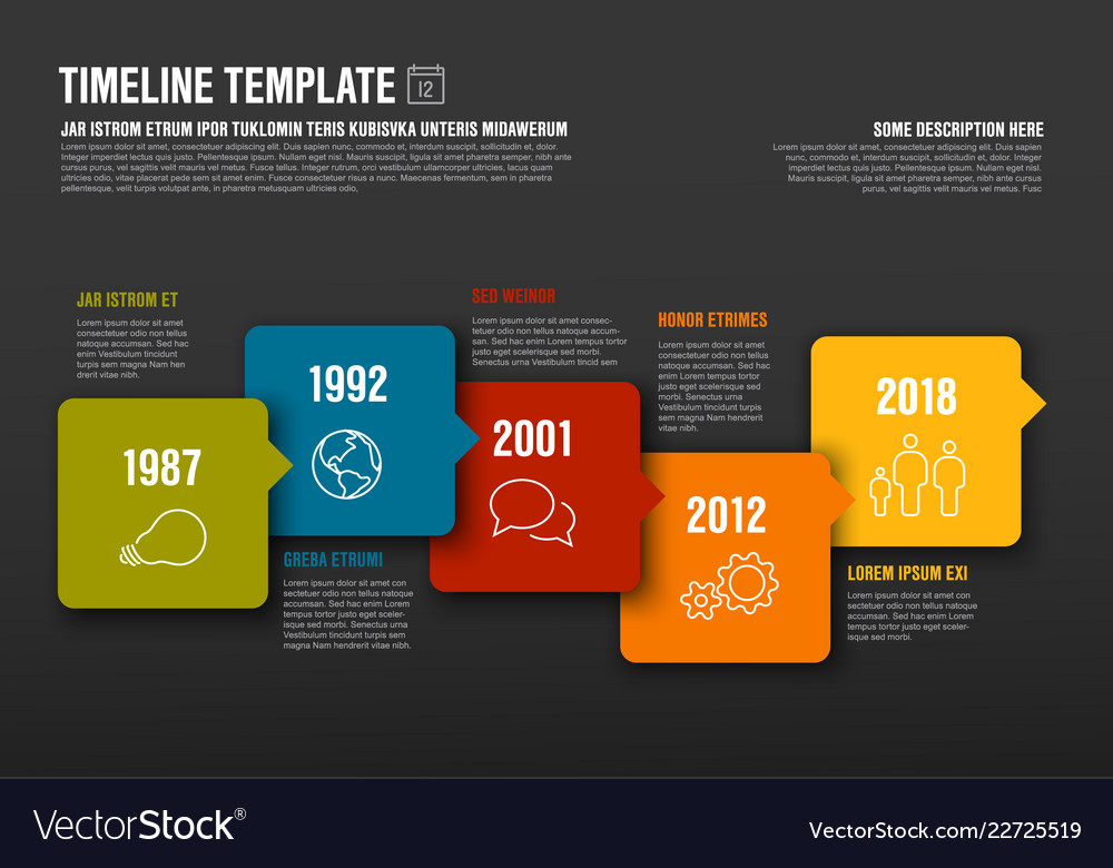 Infographic horizontal timeline template made