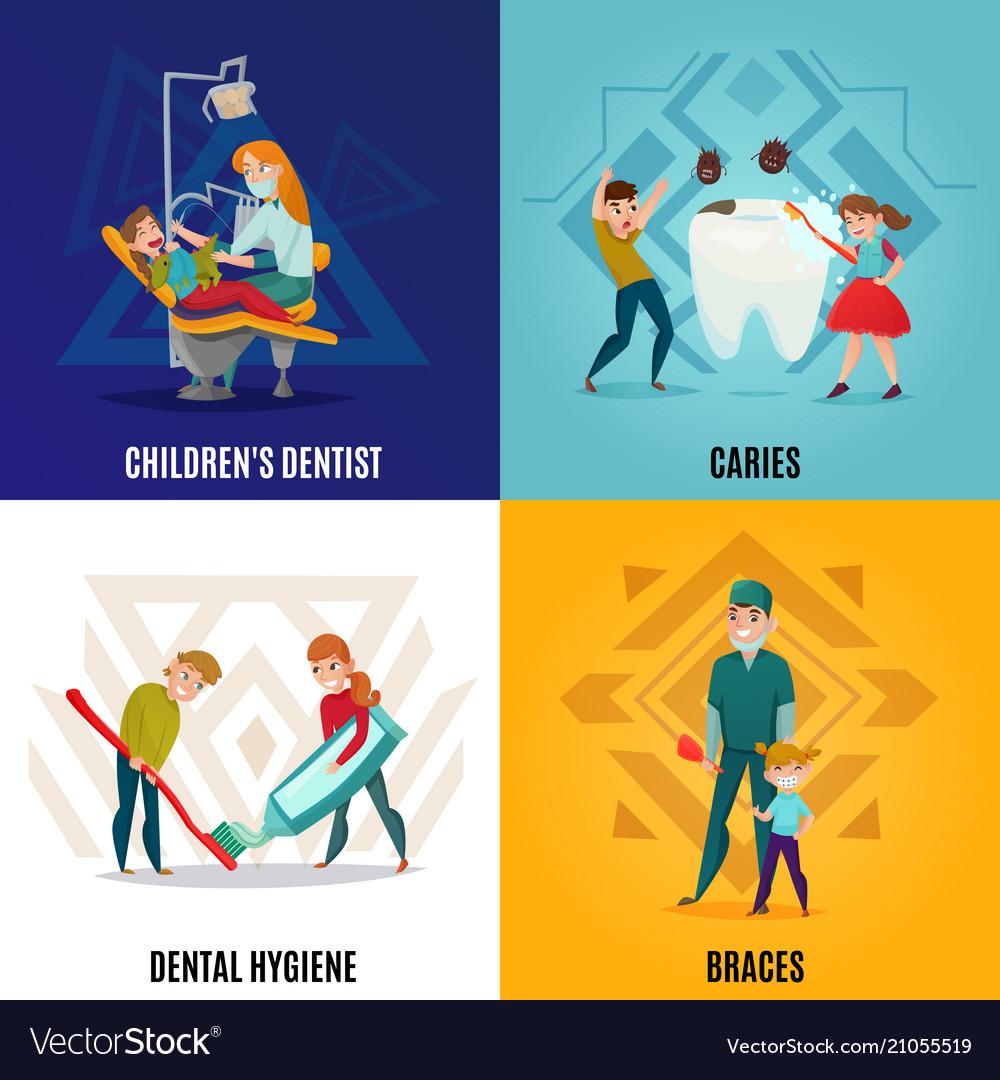 Pediatric dentistry concept set