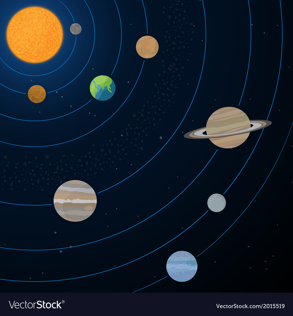 realistic solar system royalty free vector image