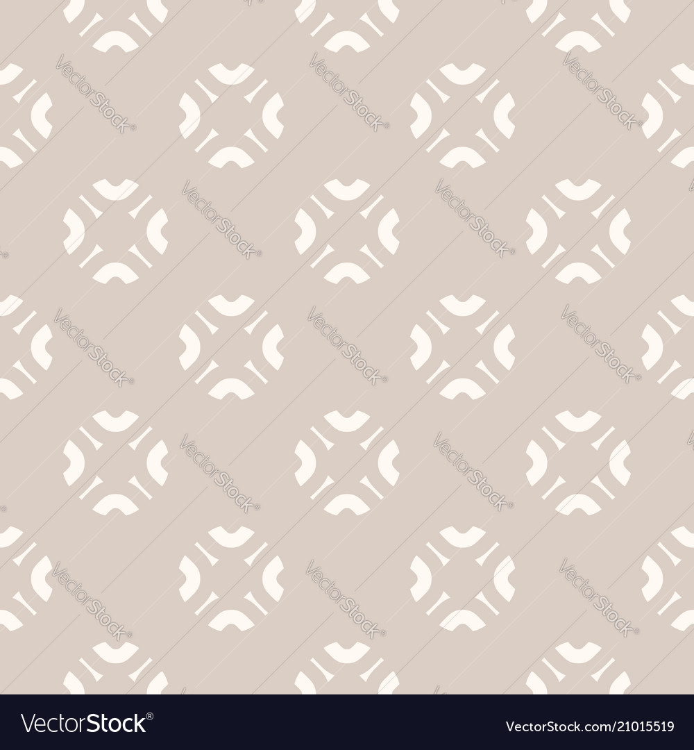 Subtle abstract seamless floral pattern in beige