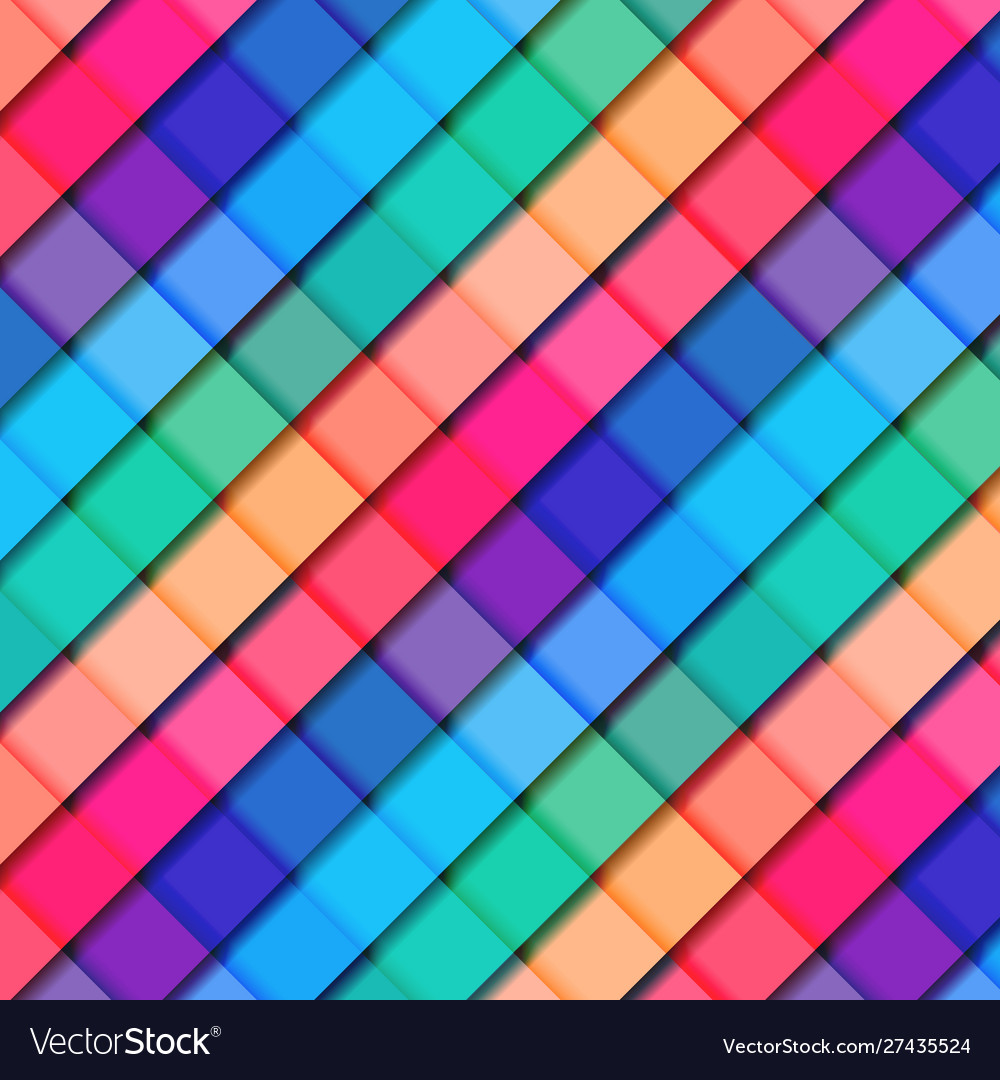 Abstract 3d striped geometric square pattern