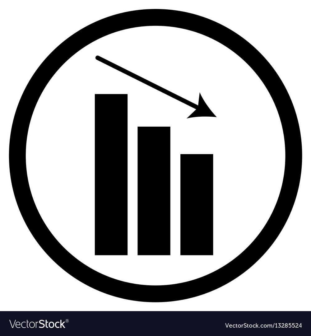 Chart down icon
