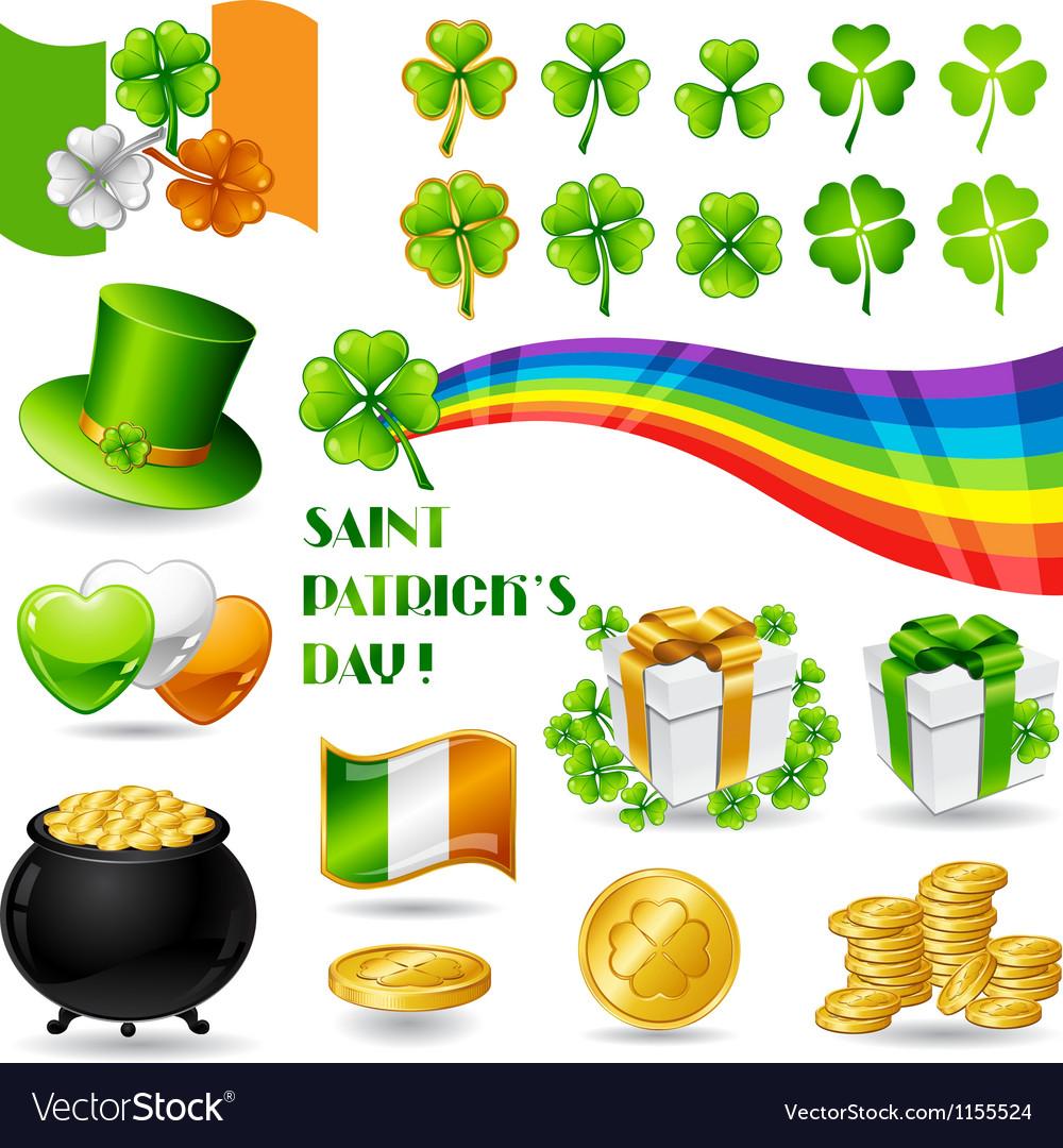 Collection of Saint Patricks Day symbols