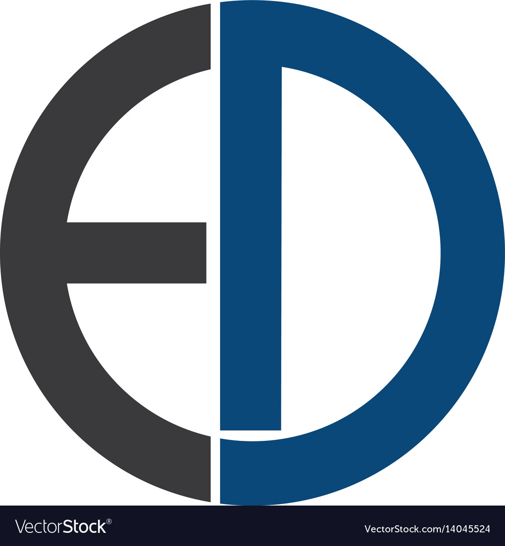 Ed letters business logo