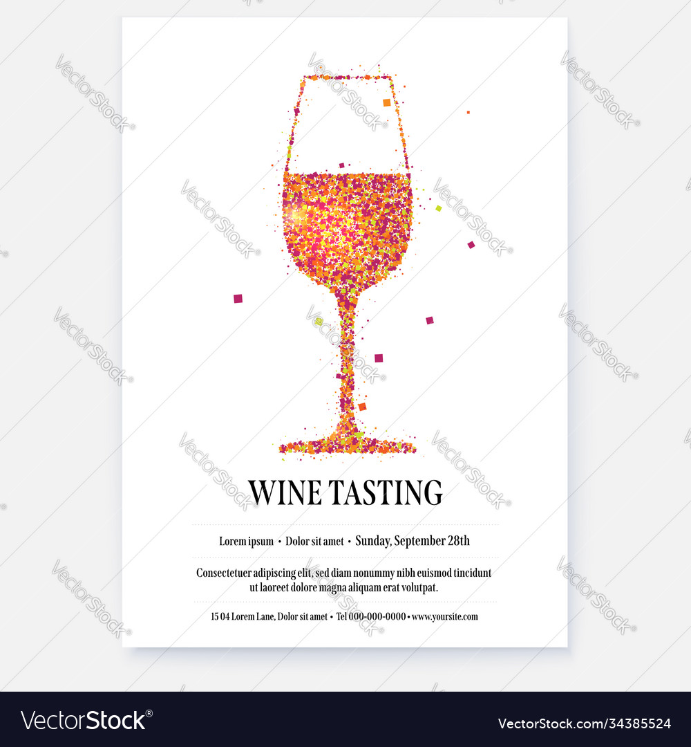 Poster for wine tasting events with design text