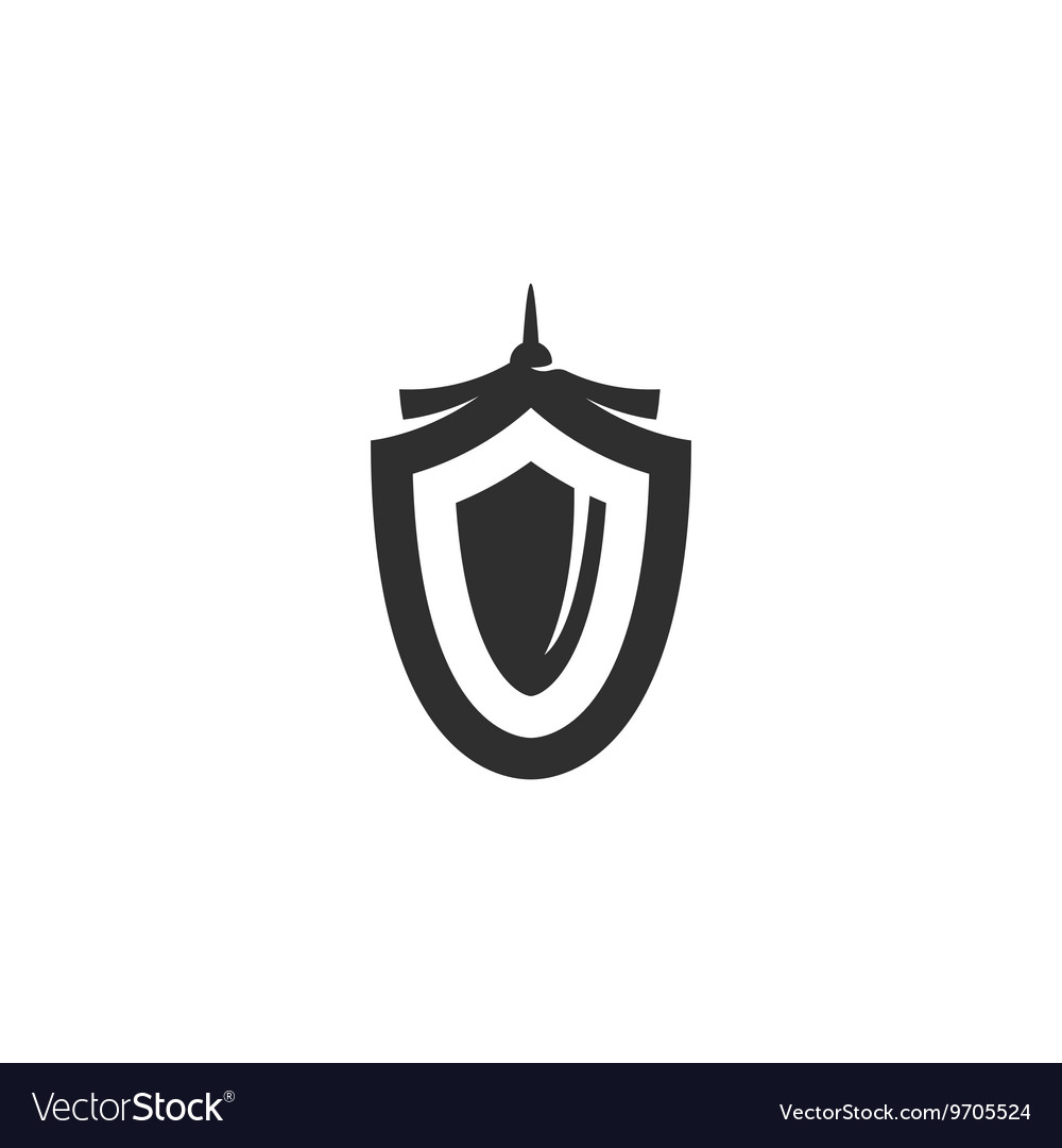 Shield icon isolated on white background