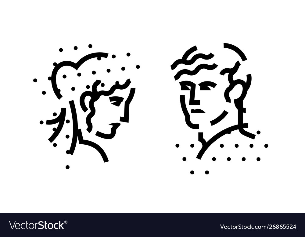 Signs logo male and female heads a