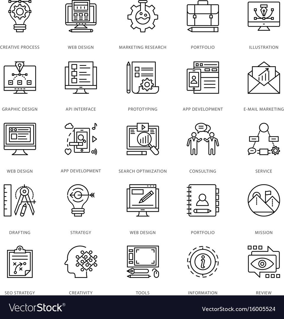 Web design and development icons 1