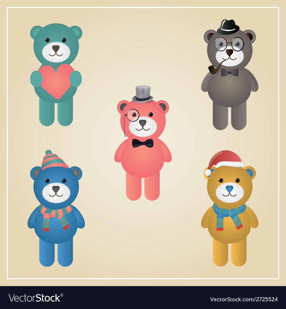 Winter Hipster Teddy Bear