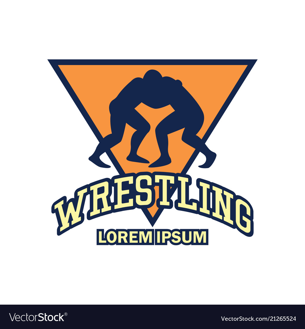 Wrestling Logo With Text Space For Your Slogan Vector Image