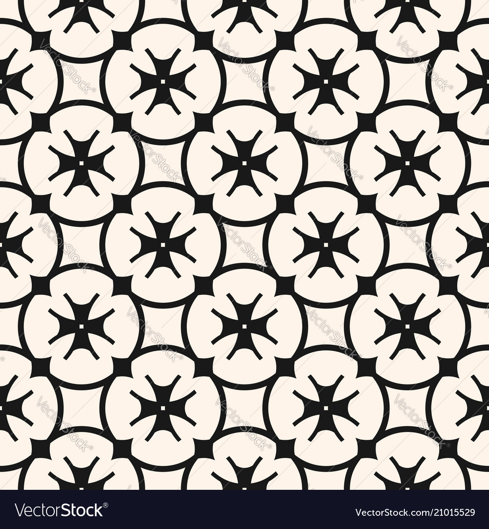 Floral seamless pattern black and white