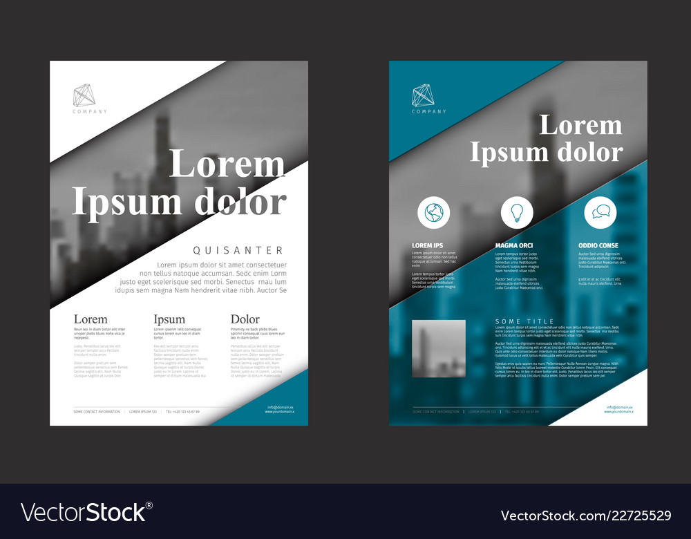 Modern blue business corporate brochure flyer