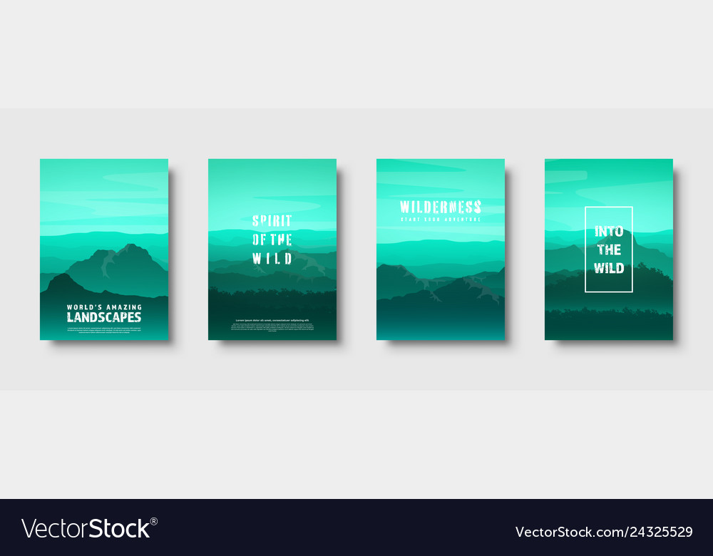Mountains and forest wild nature landscape