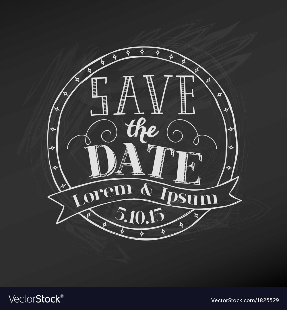Save the Date - Wedding Chalkboard Card