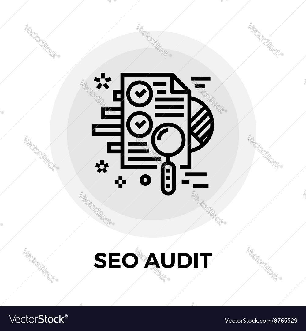SEO Audit Line Icon