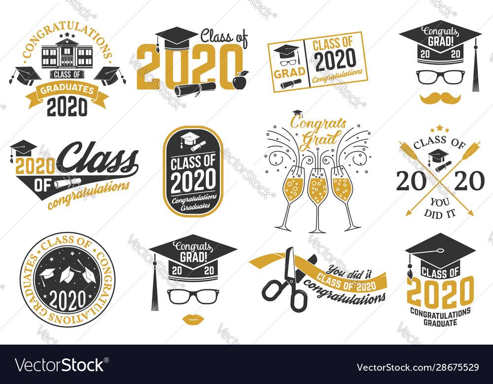 Set class 2020 badges concept