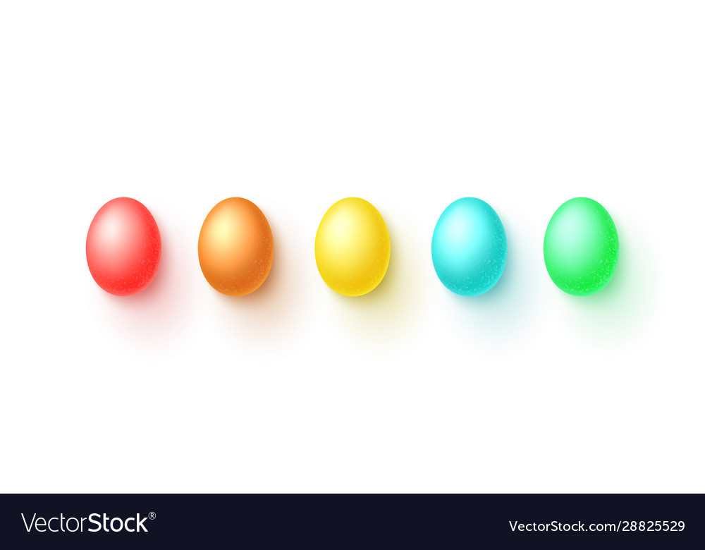 Set easter colorful eggs