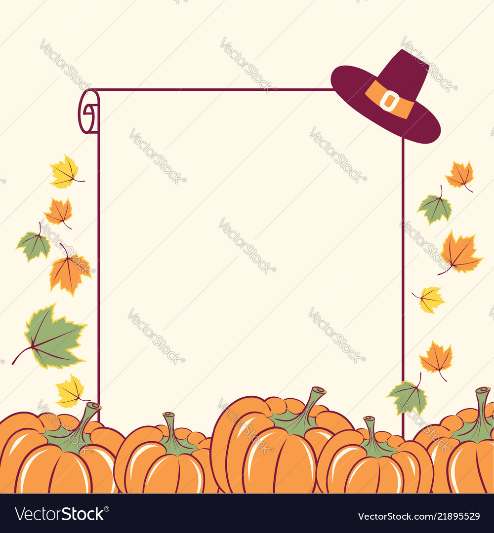 Thanksgiving background with seasonal pumpkins