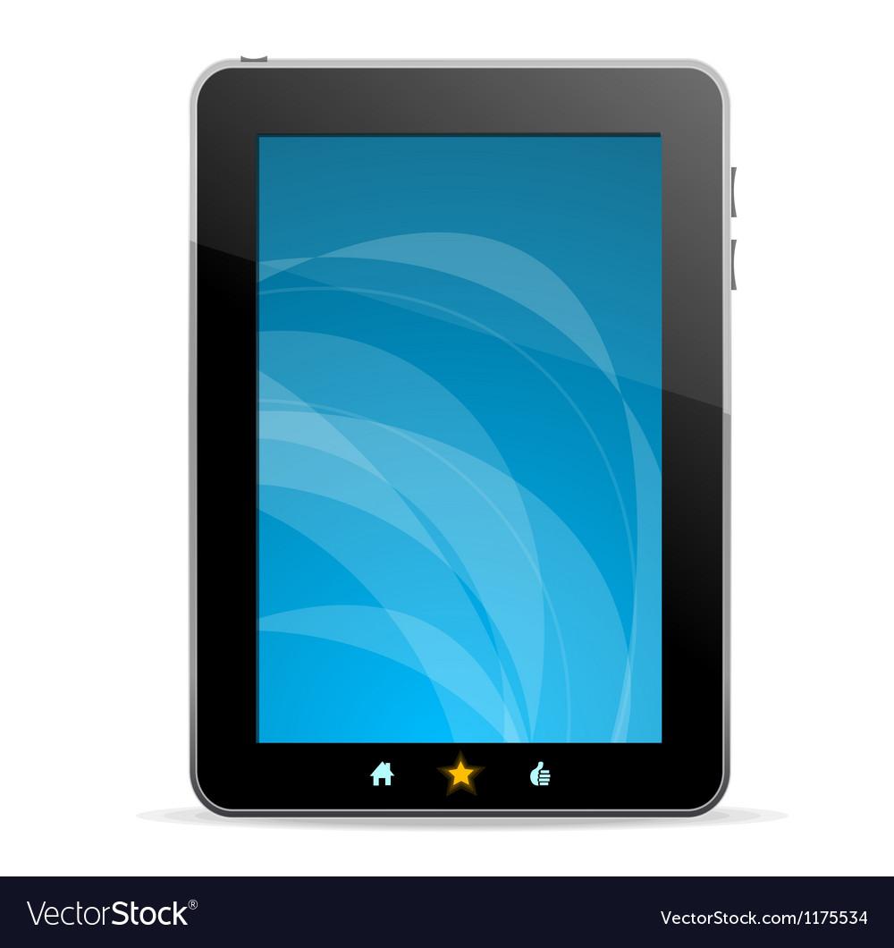 Black tablet like Ipade on white background