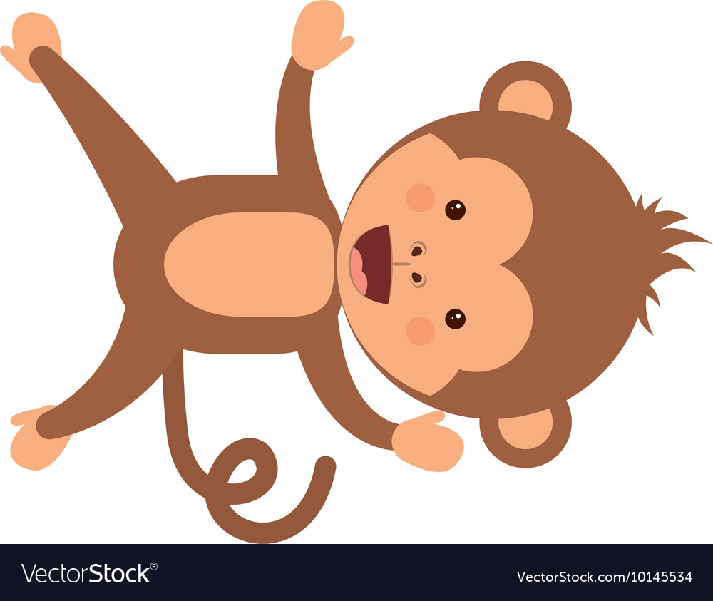 Funny monkey character isolated icon design