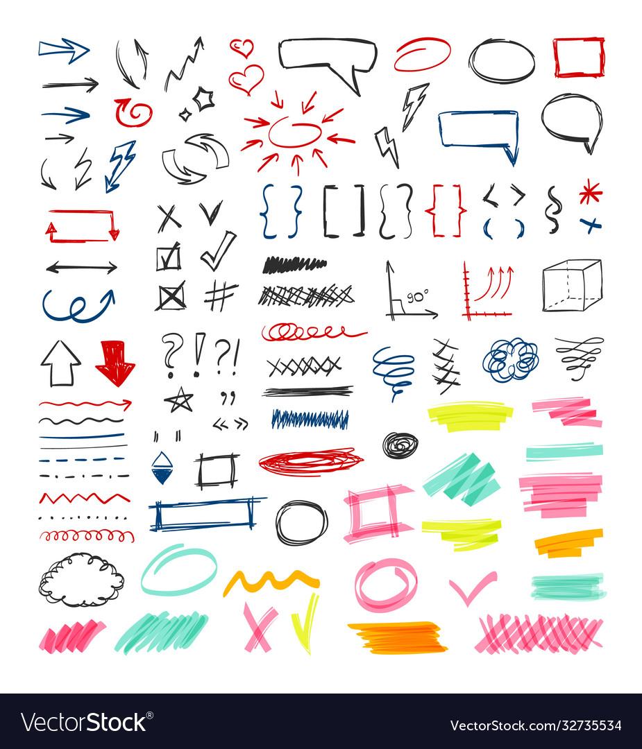 Handdrawn colored pen marker design sketch