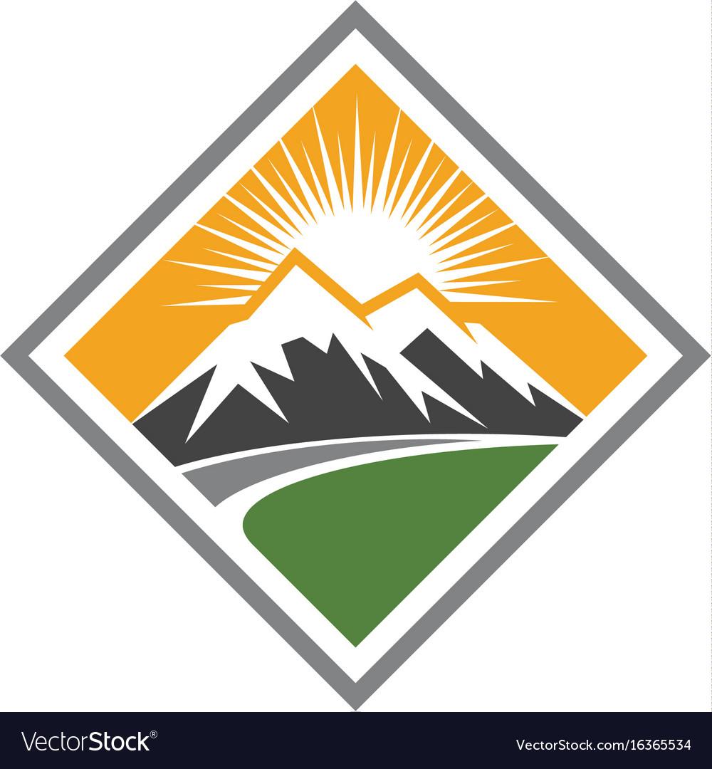 High mountain icon logo business template