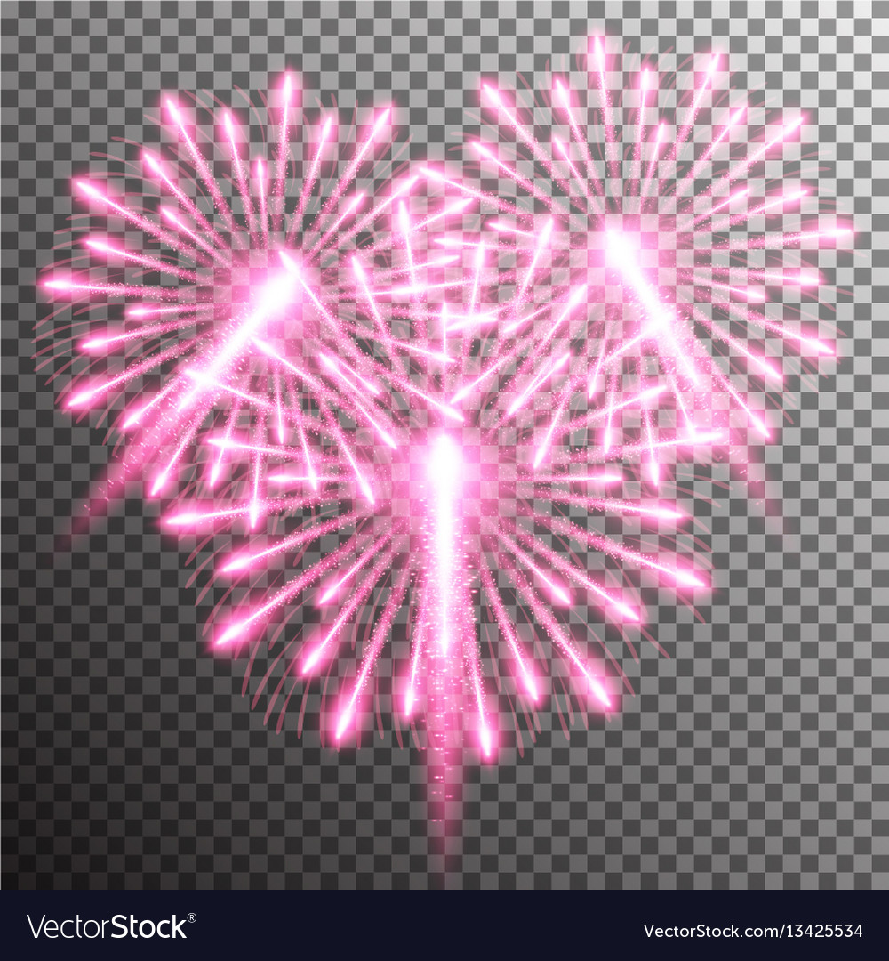Isolated realistic fireworks