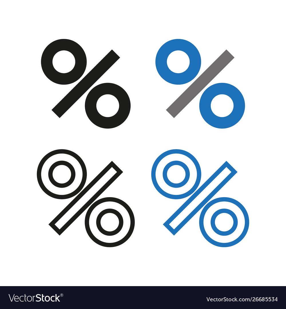 Percent icon simple