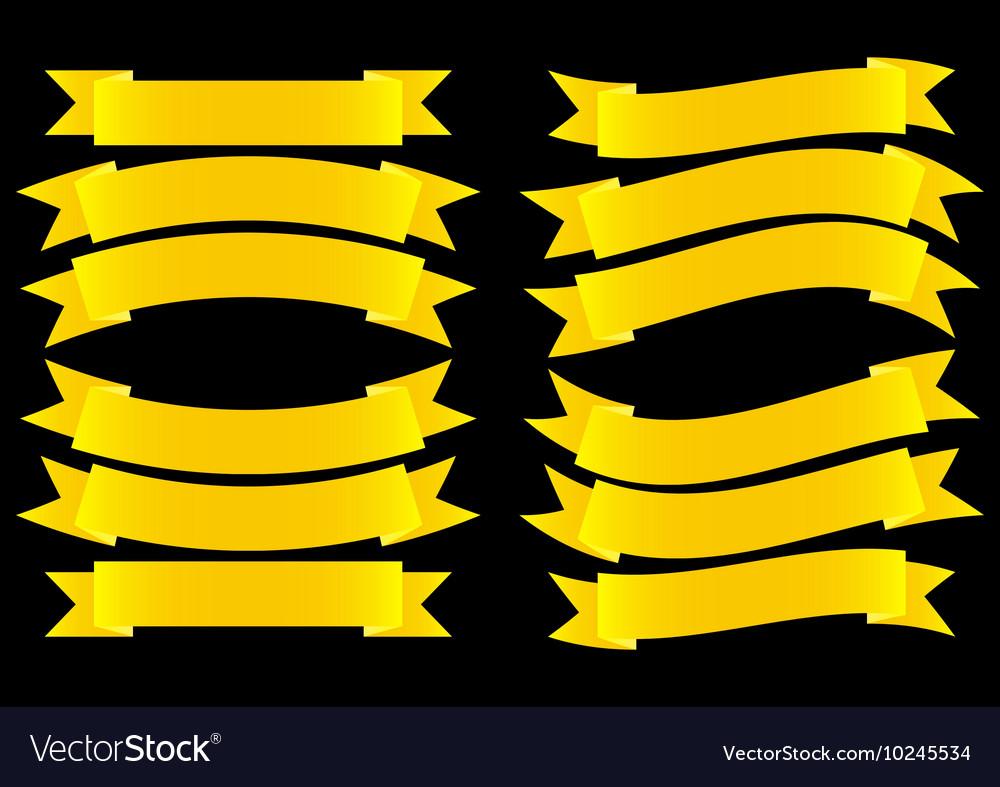 Ribbon banner gold