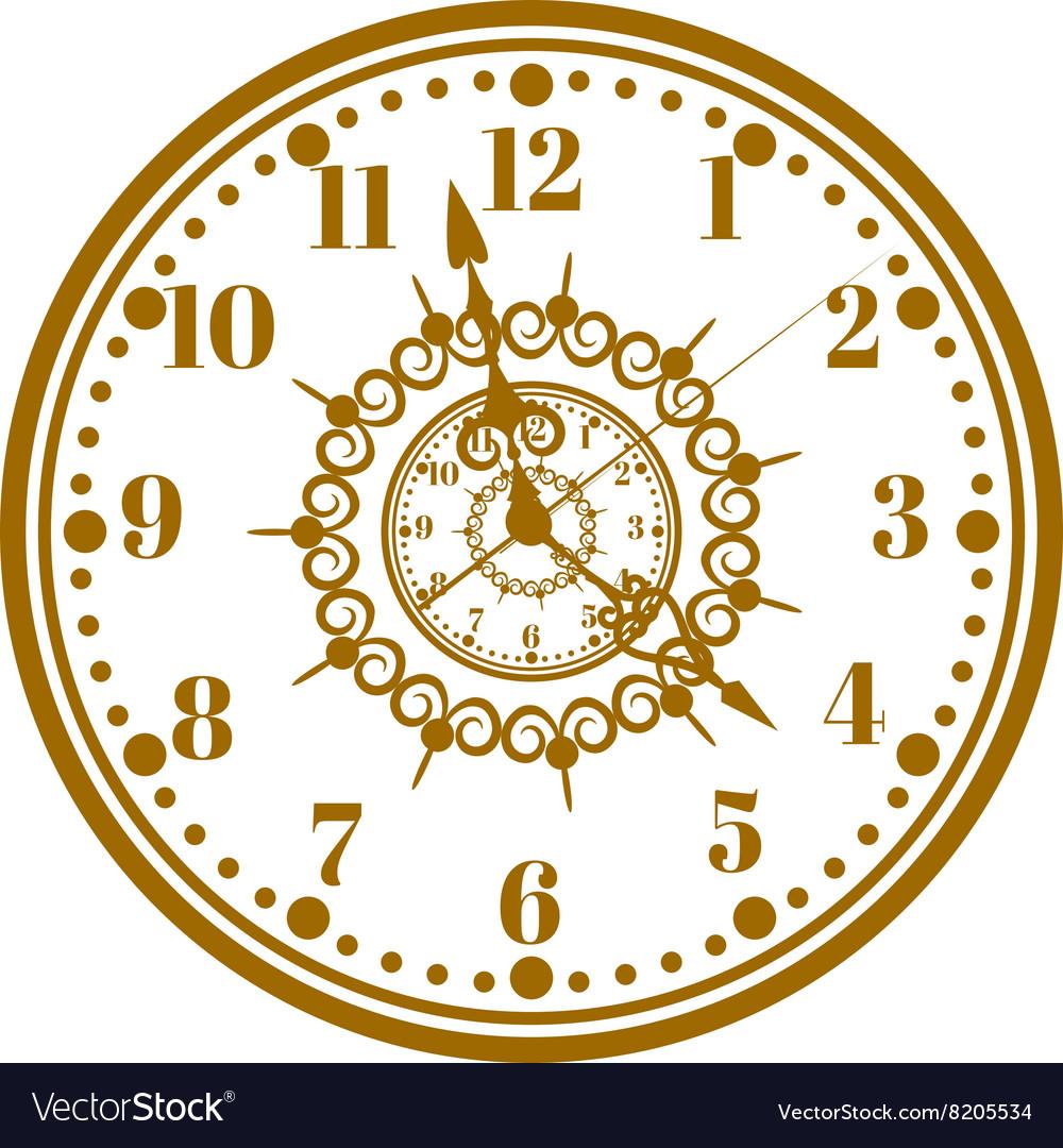 Watch face antique clock