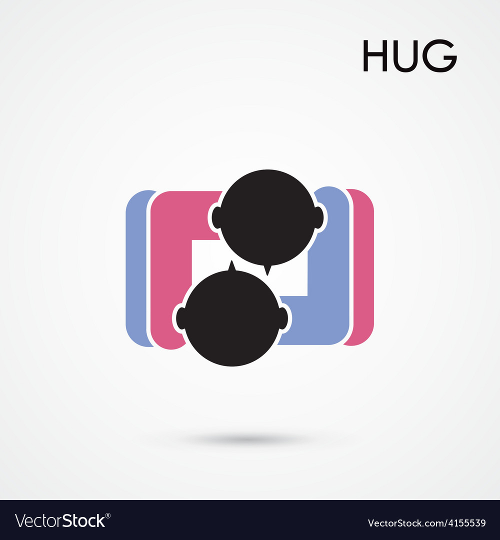 Abstract Hug Symbol Royalty Free Vector Image Vectorstock
